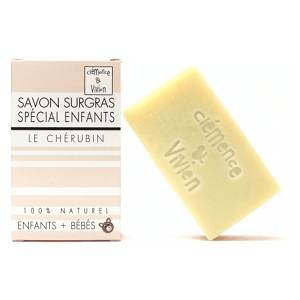 le savon surgras naturel pour les enfants de clemence et vivien est disponible sur marguette.com au prix de 3.90€