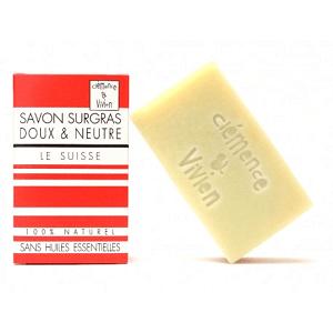le savon surgras naturel de Clémence et Vivien est disponible sur marguette.com au prix de 3.90€