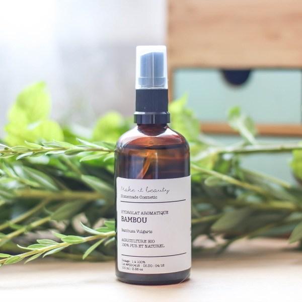 L'hydrolat de bambou bio disponible sur marguette.com est idéal pour les peauxmixtes à grasses, il hydrate et matifie le teint