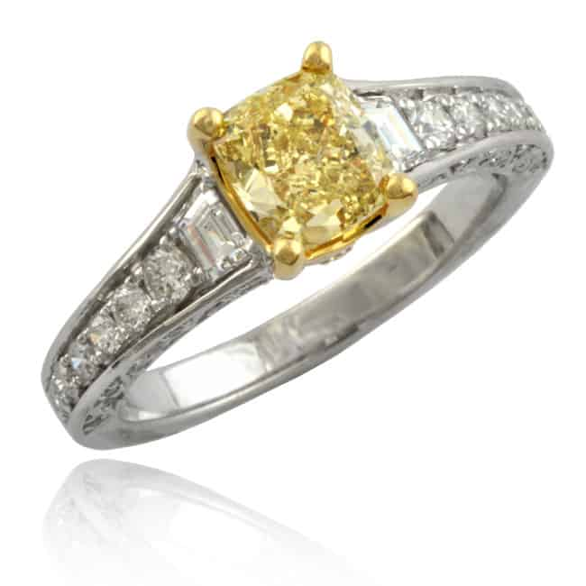 Fancy Yellow Diamond Ring Image