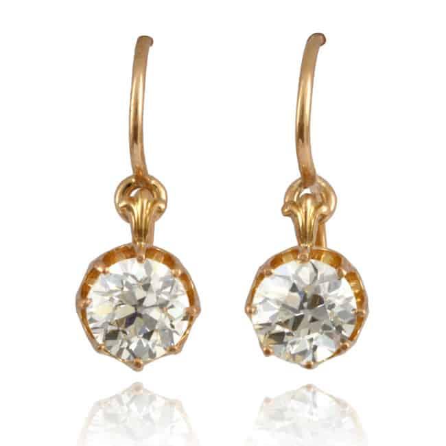 Antique Diamond Earrings Image