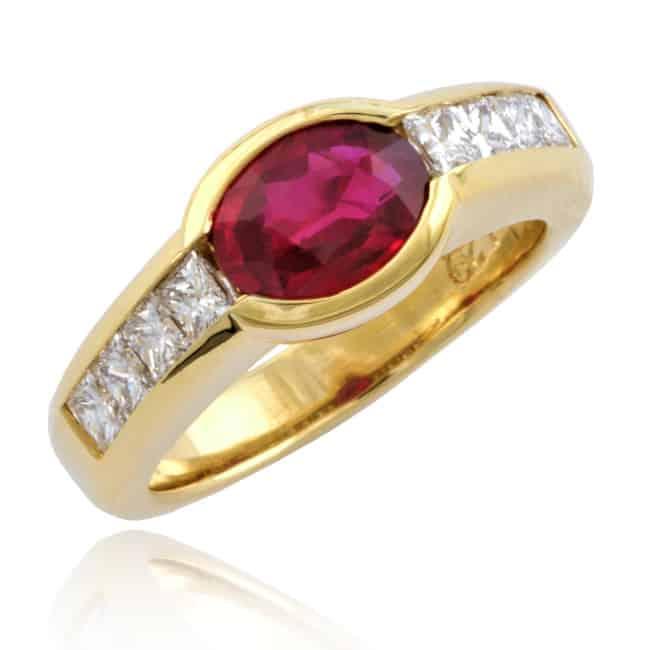 Oval Ruby & Diamond Ring Image