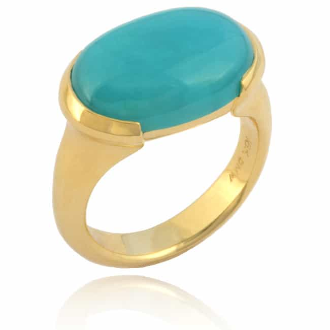 Oval Chrysocolla Ring Image