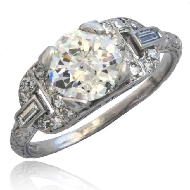 Art Deco Platinum Diamond Ring Image