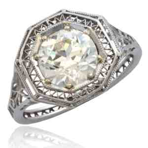 Art Deco Wirework Diamond Ring Image