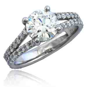 Split Shank Diamond Engagement Ring Image