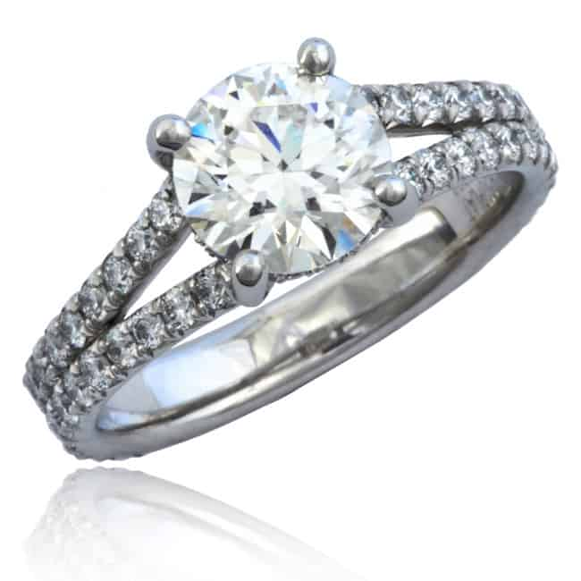 Split Shank Diamond Engagement Ring Image
