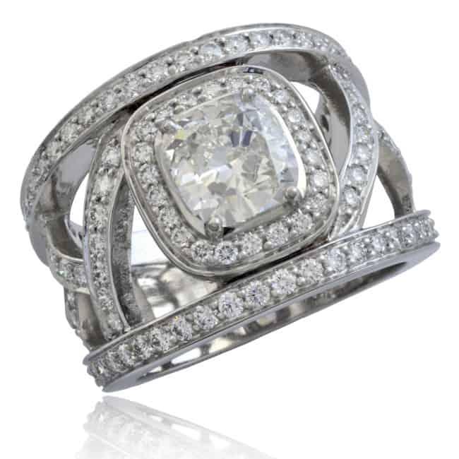 """French"" Openwork Diamond Ring Image"