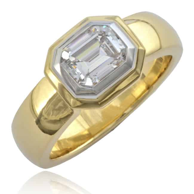 Contemporary Diamond Solitaire Ring Image
