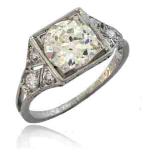 Edwardian Diamond Engagement Ring Image