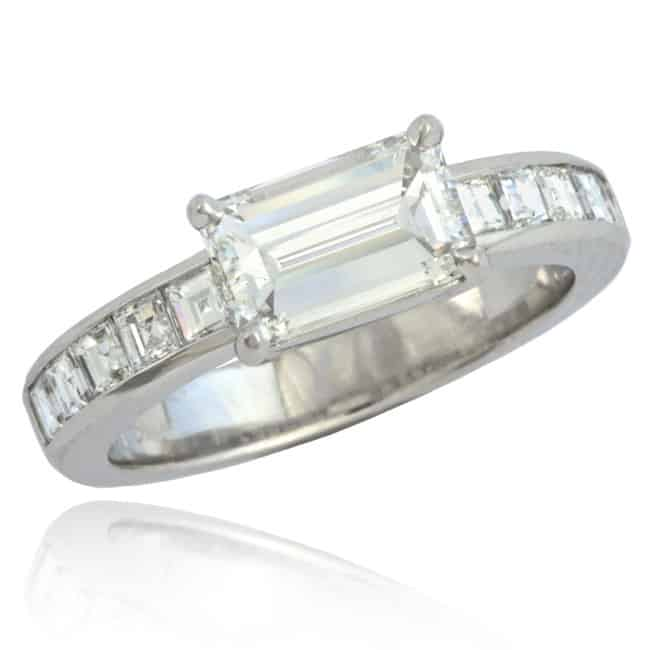 Emerald Cut Diamond Engagement Ring Image