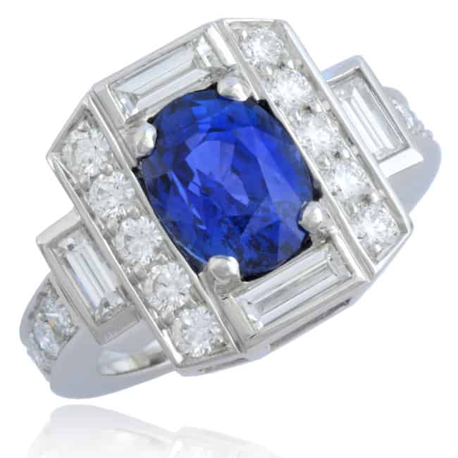 Natural Blue Oval Sapphire Ring Image