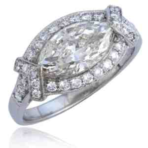Marquise Diamond Platinum Ring Image