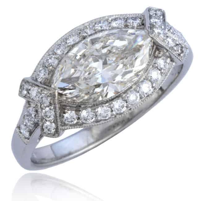 Marquise Diamond Platinum Ring Image