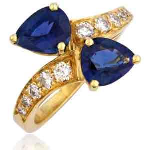 18k Sapphire & Diamond Ring Image