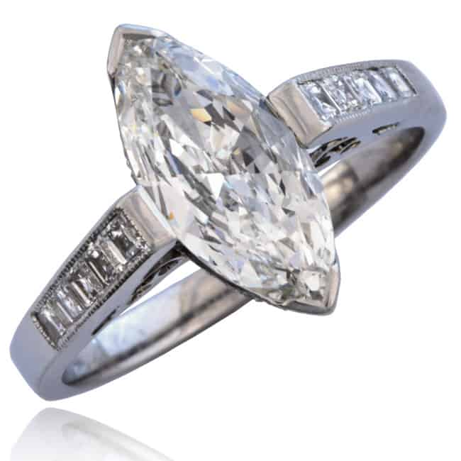 Marquise Diamond Engagement Ring Image