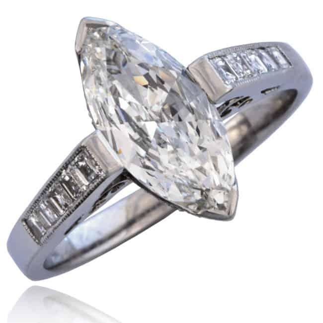 Marquise Diamond Engagement Ring Image