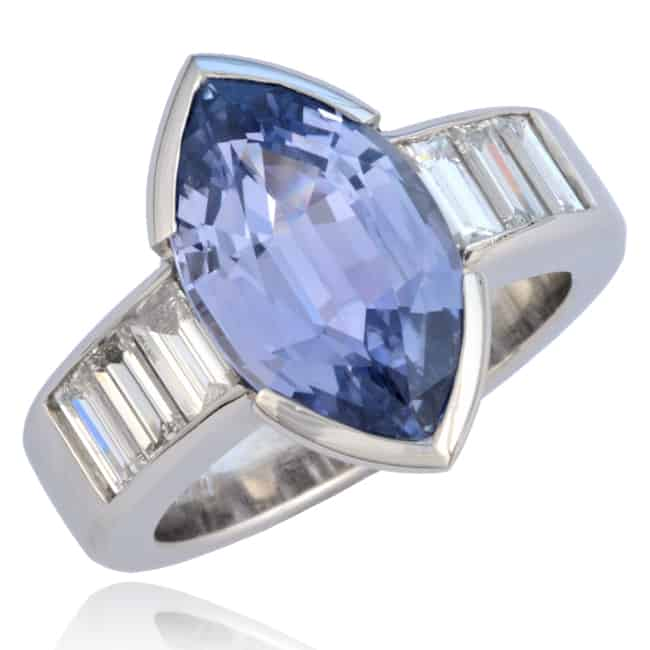 Marquise Sapphire Ring Image