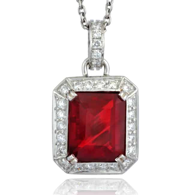 Sunstone & Diamond Pendant Image