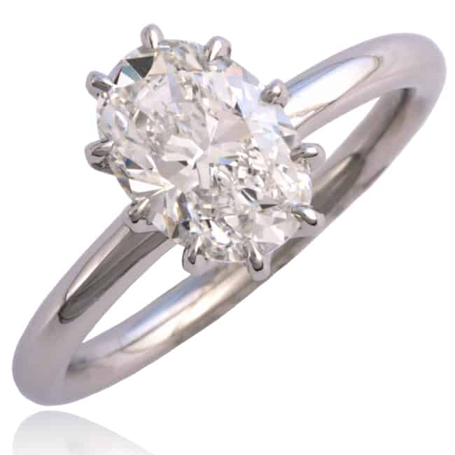 Oval Diamond Engagement Ring Image