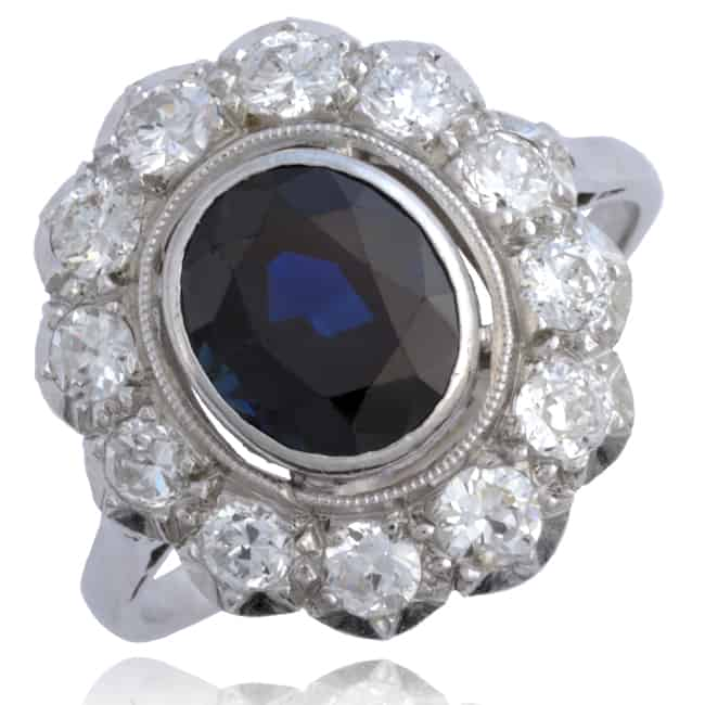 Vintage Sapphire & Diamond Ring Image