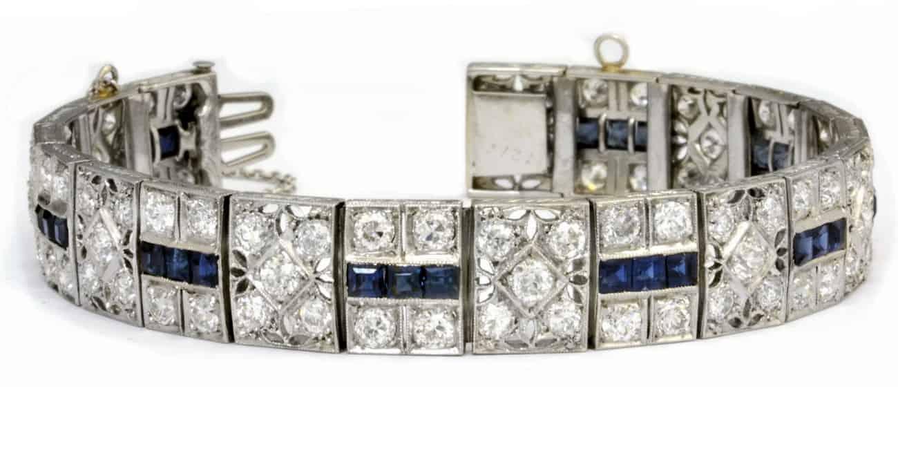 Art Deco Sapphire & Diamond Bracelet Image