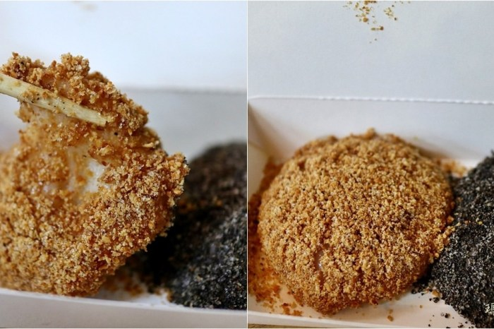 台中北區|龍井古早味燒麻糬 冬季限定的古早味甜品小吃 一中街冰達人的一中美食