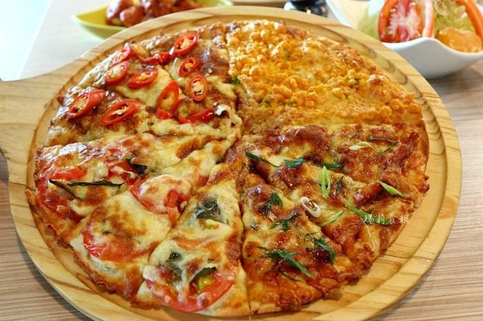 喬e歐爸爸 手工披薩吃到飽|二十多種口味披薩 壽星五折優惠 食尚玩家推薦 台中必吃美食
