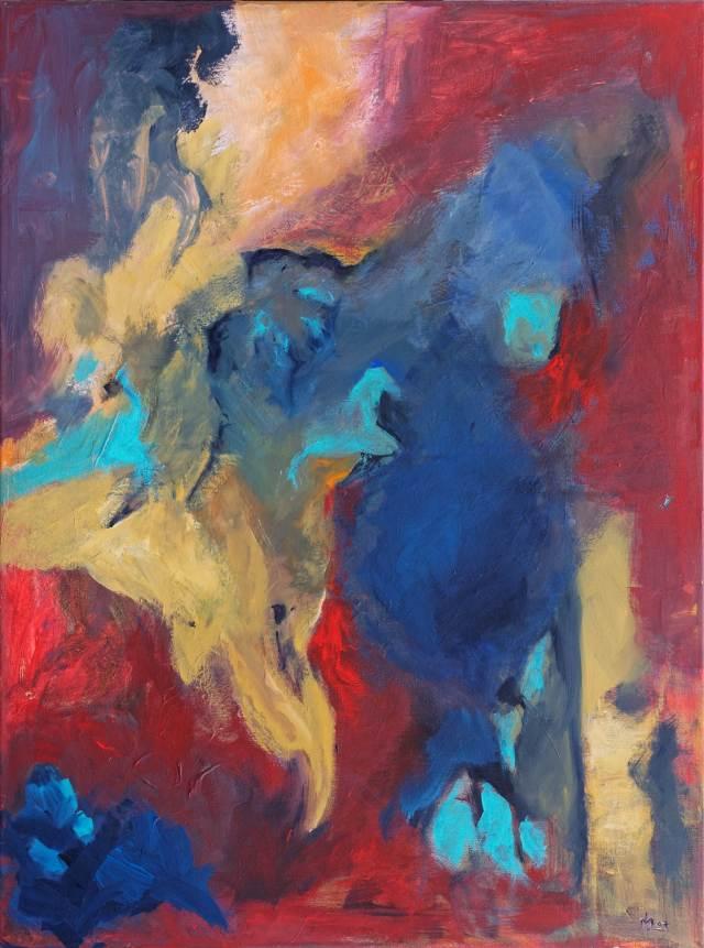2007 - Rot dominiert, 60x80cm, Acryl
