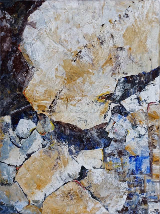 2011 - Gestein, 60x80cm, Acryl-Spachteln