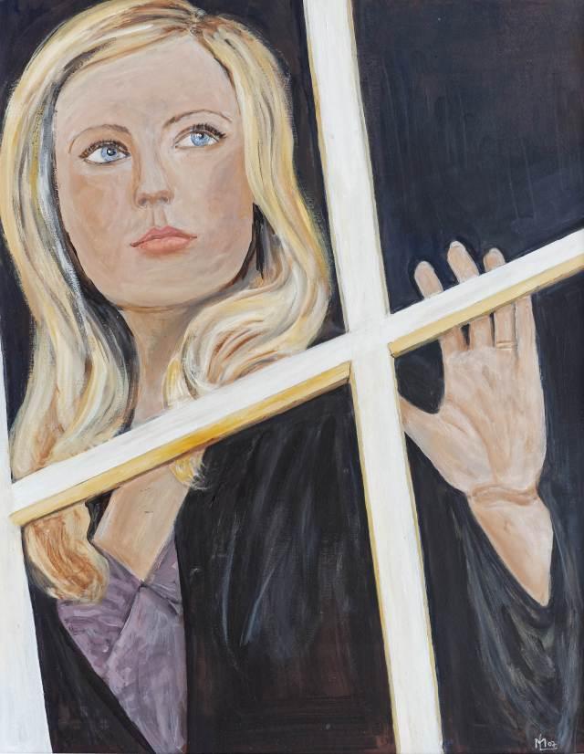 2004 - Frau am Fenster - 60x80cm, Acryl