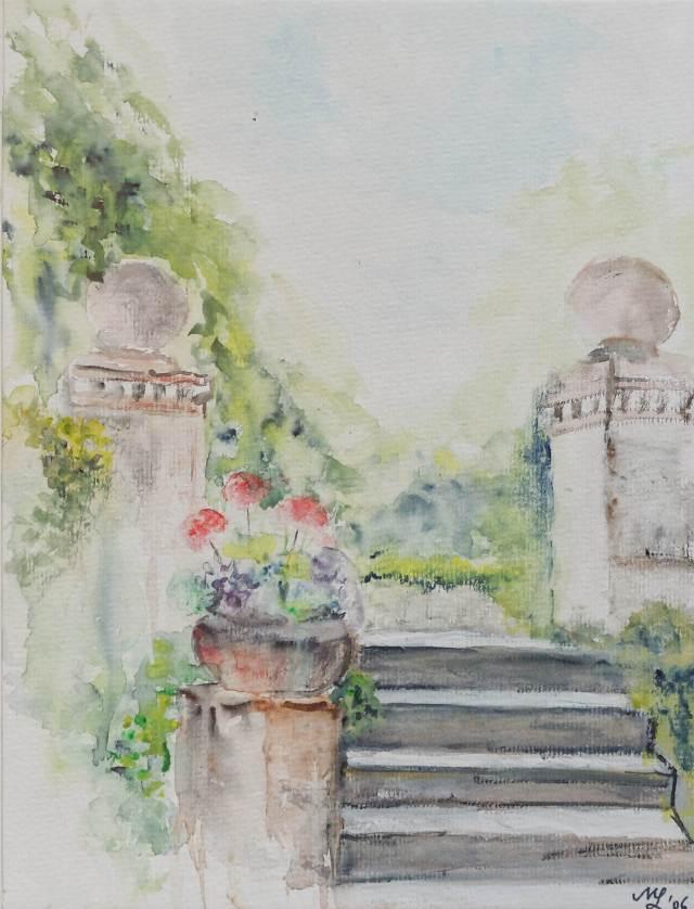 2006 - Im Schlossgarten, 40x30cm, Aquarell