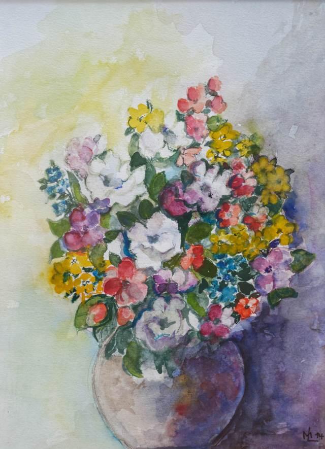 2014 - Bunter Blumenstrauß, 25x20cm, Aquarell