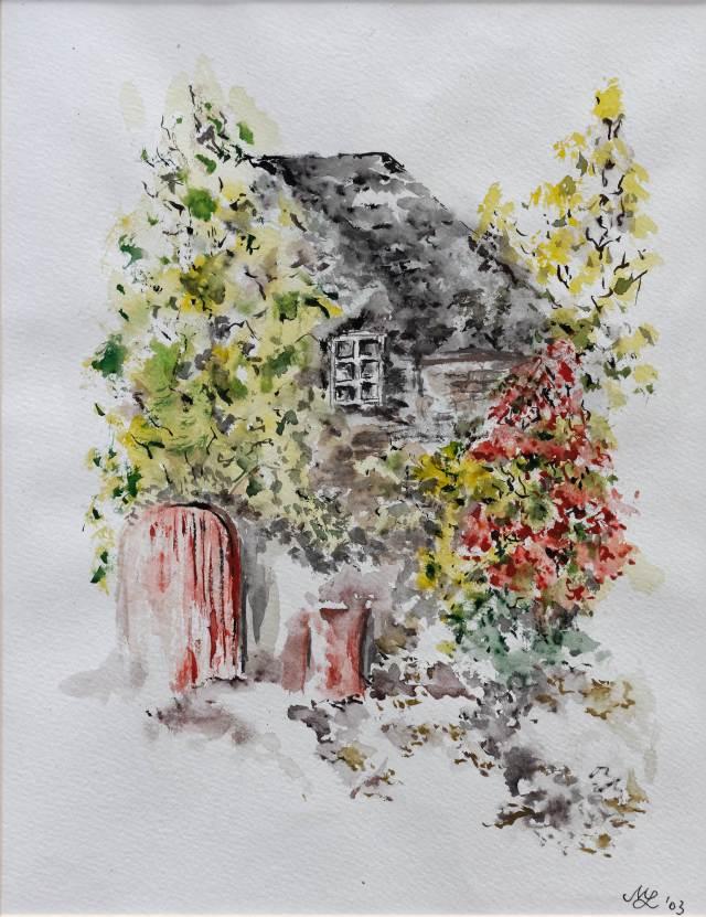 2003 - Haus im Grünen, 40x50cm, Aquarell
