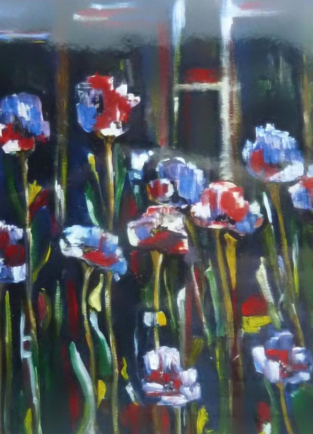 2002 - Tulpen abstrakt, 50x60cm, Öl