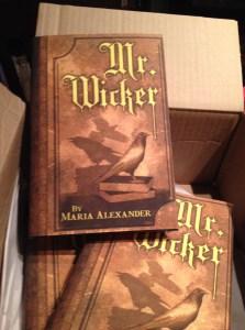 Hardcover copies of Mr. Wicker
