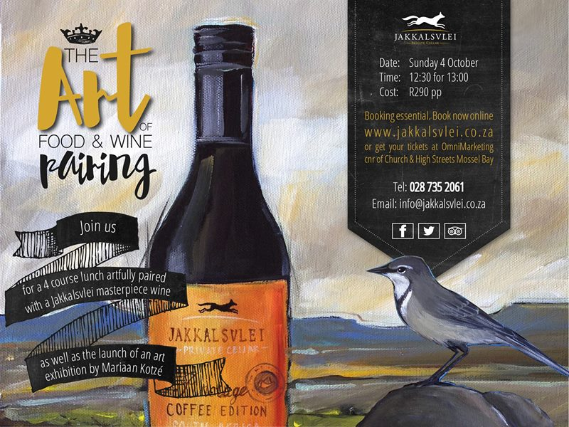 Art Exhibition 4 to 29 October 2015 Jakkalsvlei Wine Estate