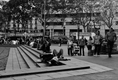 en plaza Catalunya