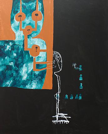 Acrylic on canvas. 162x130cms 2013