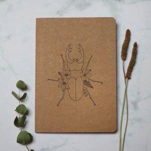 cuaderno artesanal escarabajo