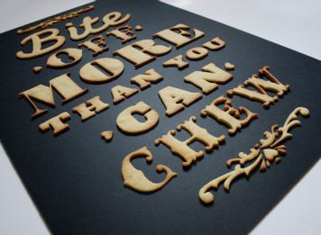 Edible Poster Typography