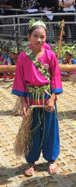 A Jakun girl all set to perform a traditional tribal dance