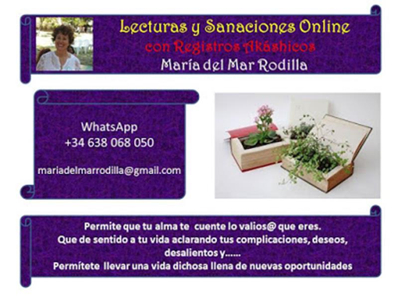 Cartel Lecturas y Sanaciones Online Teléfono Email