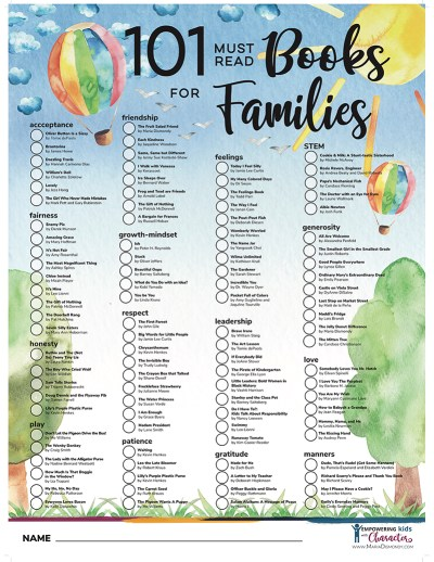 Picture Books That Heal. 101 Must Read Books for Families, where you can find books that will help teach social emotional skills - this is a FREE list for you. #MustReadBooks #MustReadBooksForFamilies #PictureBooks