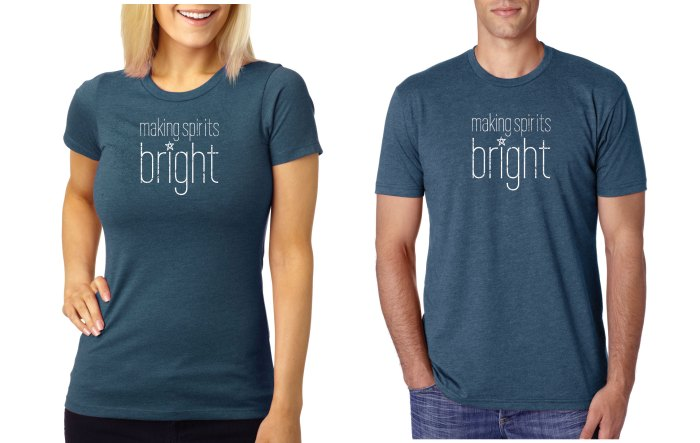 Making Spirits Bright T-Shirt Sale for Charity