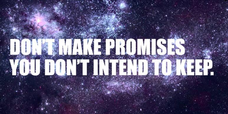 Promisiunea – sentimentul încrederii