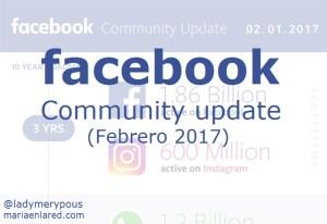 Actualización de la comunidad de Facebook (Febrero 2017)