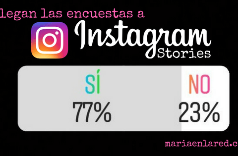 Encuestas en Instagram: ¡ya están aquí!