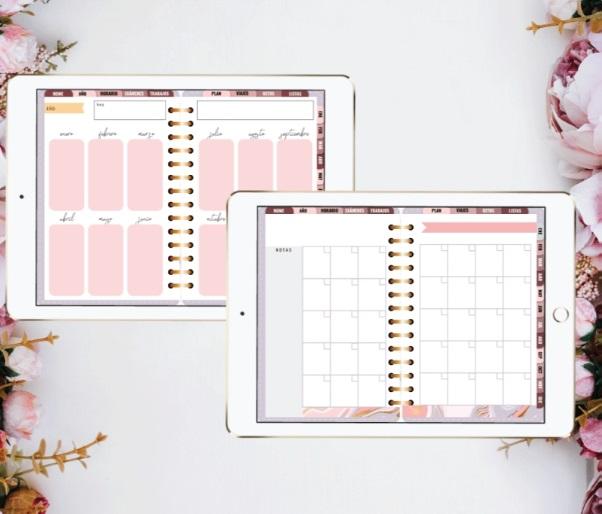 Ejemplos de papelería digital de Violeta Costas | Maria en la red