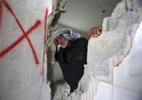 La casa de Abdul Baset Lehrub, en Deir Samet (Sur de Hebrón), demolida el 23/2/16.